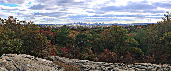 Boston skyline from Boojum Rock.
