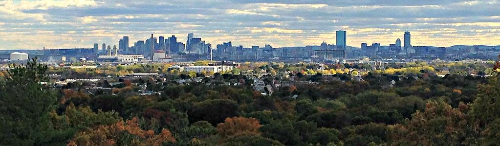 Boston skyline close-up.