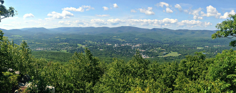 Looking west from Pine Cobble, over Williamstown to the Taconics.