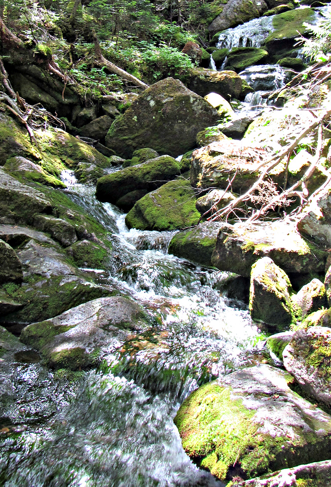 Cascade by junction of Spur and Hincks Trails.