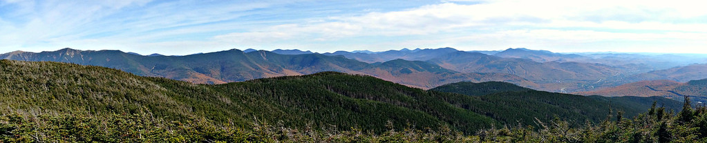 Looking east from So. Kinsman summit.