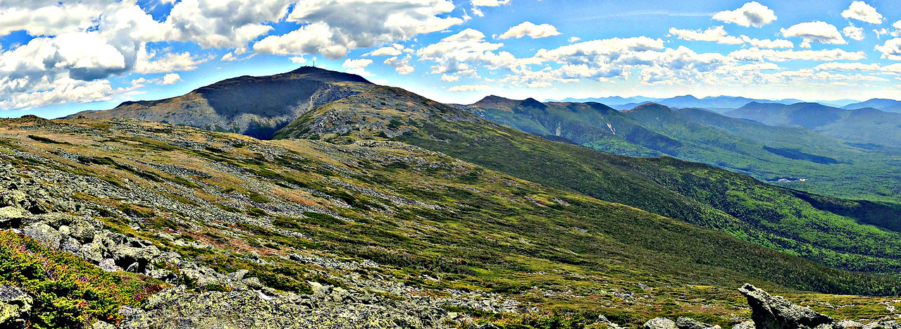 Looking up at Mt. Washington while descending the Caps Ridge Trail.