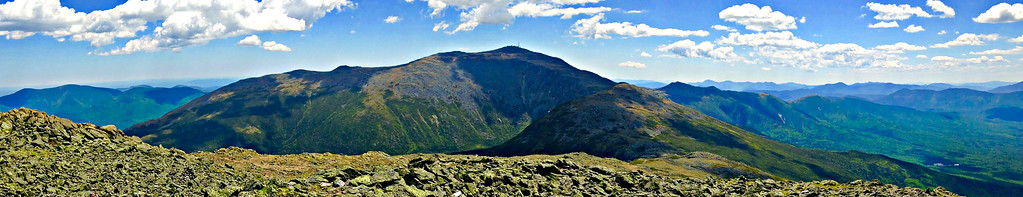 Panoramic view centered on Mt. Washington, from summit of Jefferson.