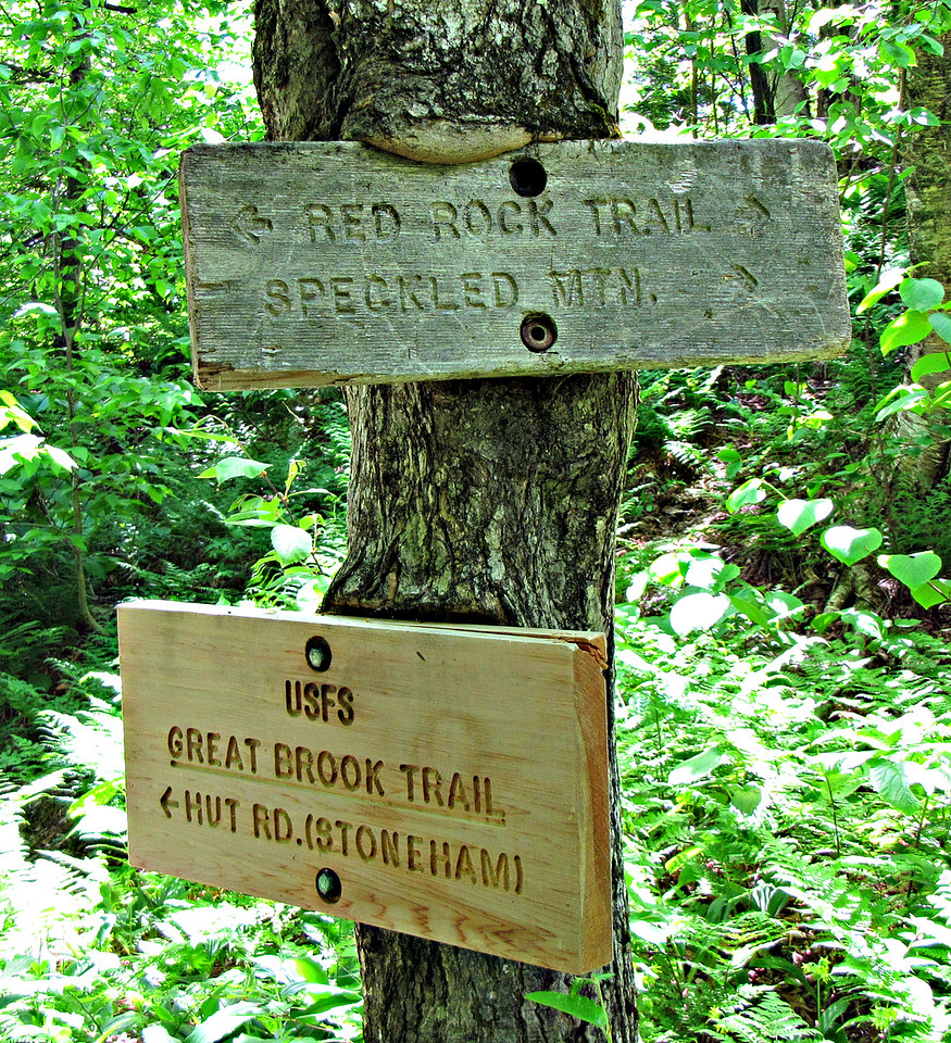My turn-around.  The lower sign is new, since my hike from the east two years ago.