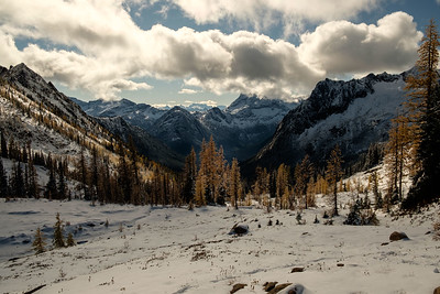 Porcupine creek drainage, the direction we came up from Rainy Pass.