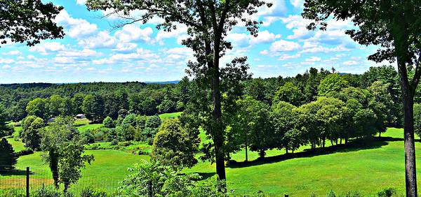 Punkatusset Hill looking SW - the Minutemen's lookout.