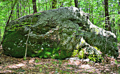 Thoreau's Indian Rock - north side.