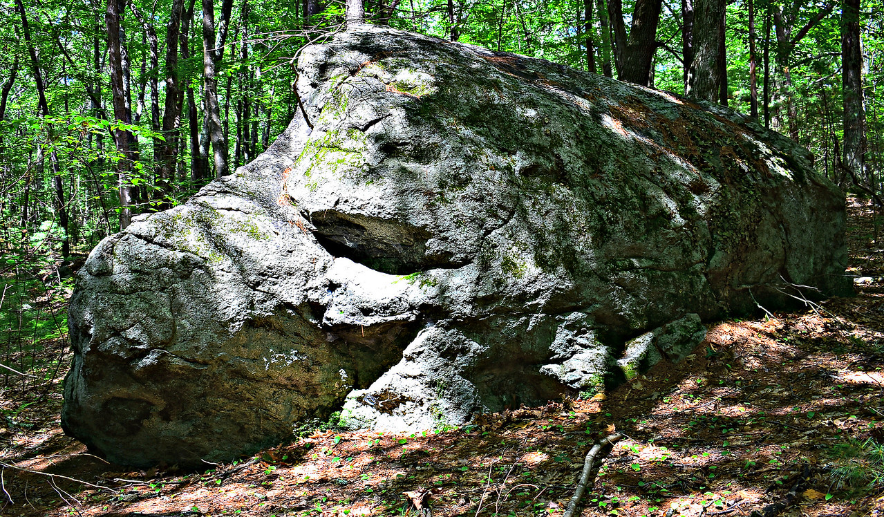 Thoreau's Indian Rock - south side.