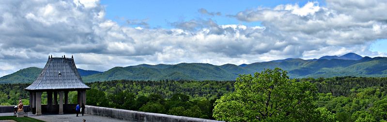 Smoky Mountains from the South Terrace.