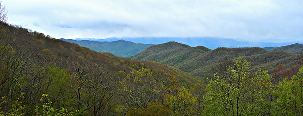 Blue Ridge Parkway - Bunches Bald Overlook.