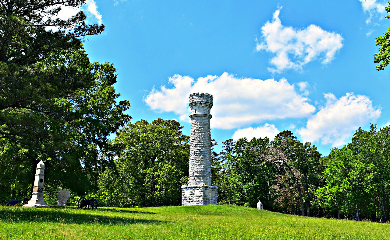 Mounument to Col. Wilder. whose Lightning Brigade withstood the Confederate whirlwhind at Chickamauga.