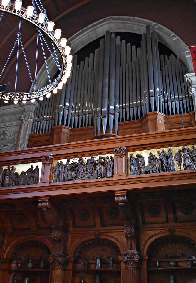Organ Loft in Banquet Hall.