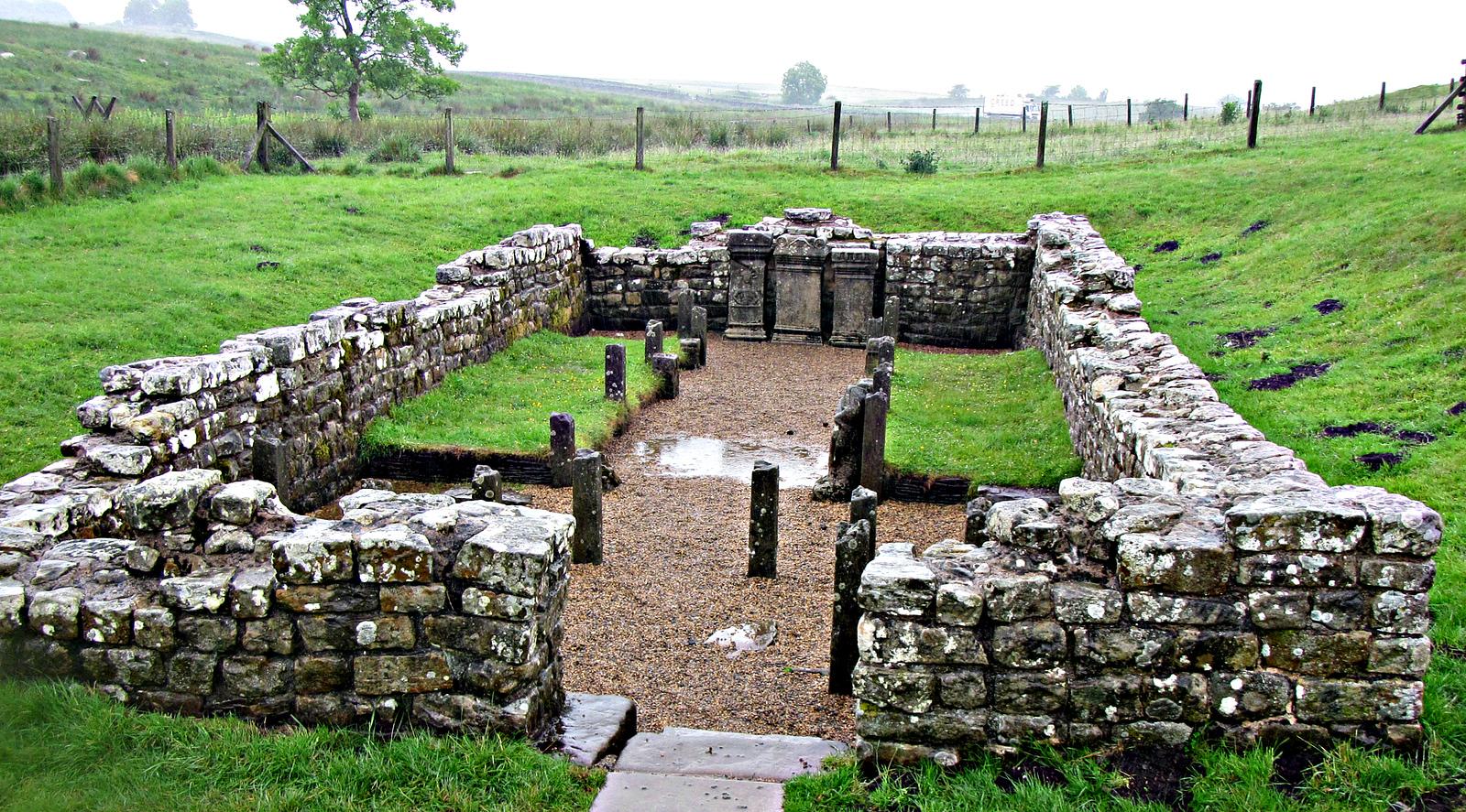 The Mithraeum - Temple 0f Mithras near Brocolitia Fort.