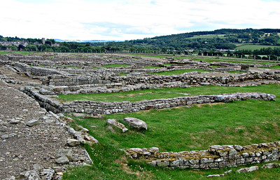 Corbridge Roman Fort - west side.