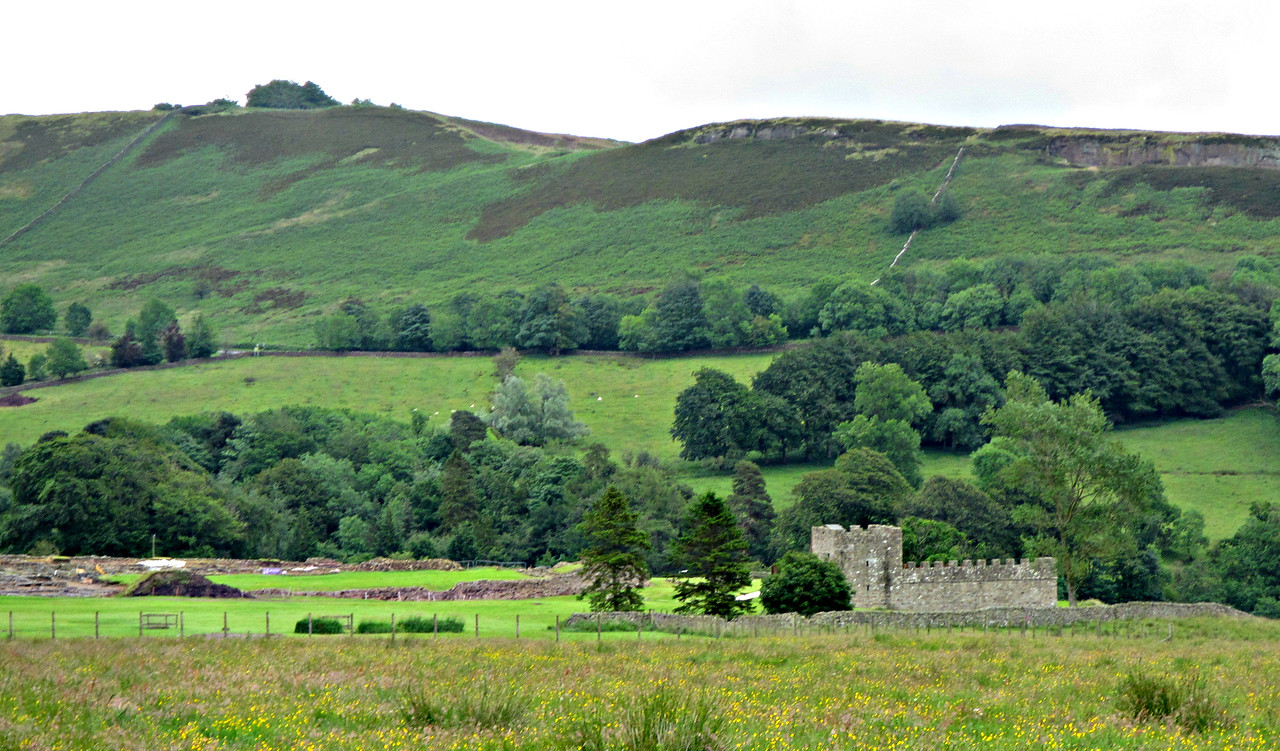On our walk to Vindolanda.