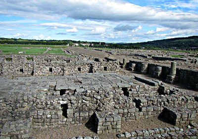 Corbridge Roman Fort - medieval town in background.