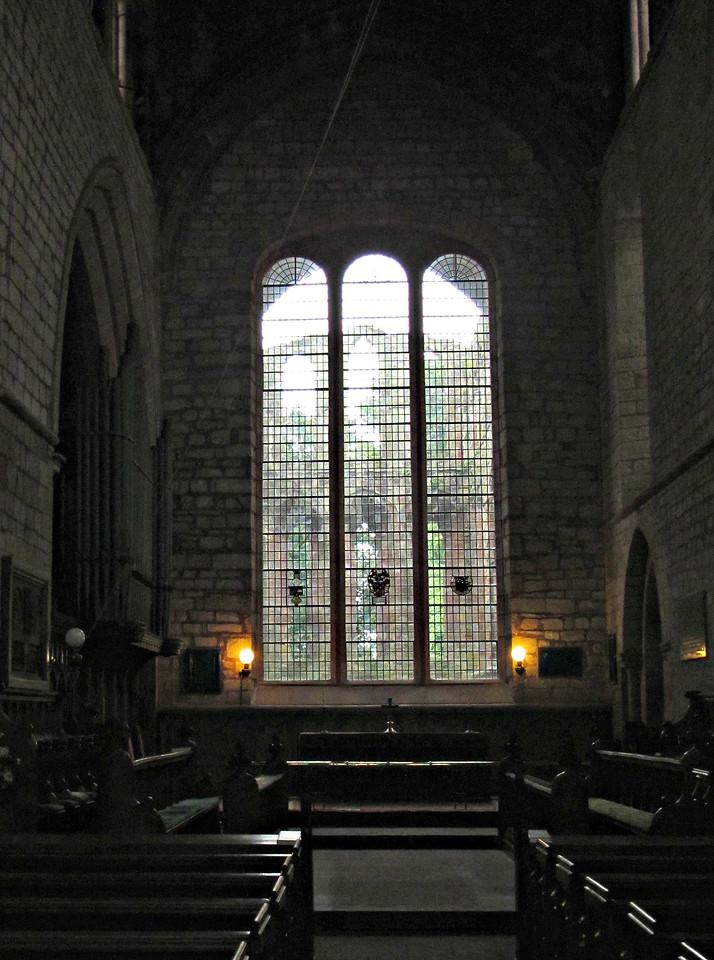 Inside Lanercost Abbey.
