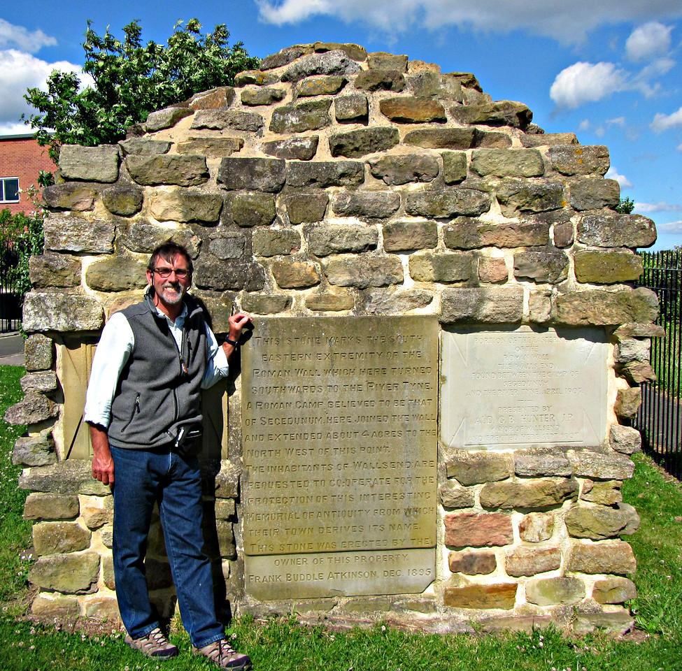 Original Victorian epitaphs on Segedenum remains.