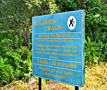 At the little trailhead lot.  The Trail is really .9 mile long.