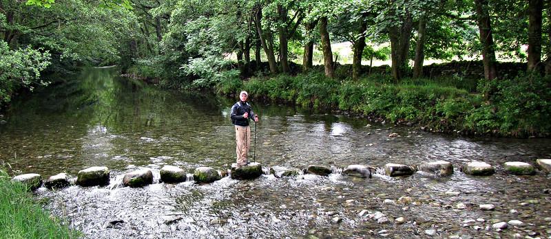 Crossing the River Derwent near Rosthwaite.