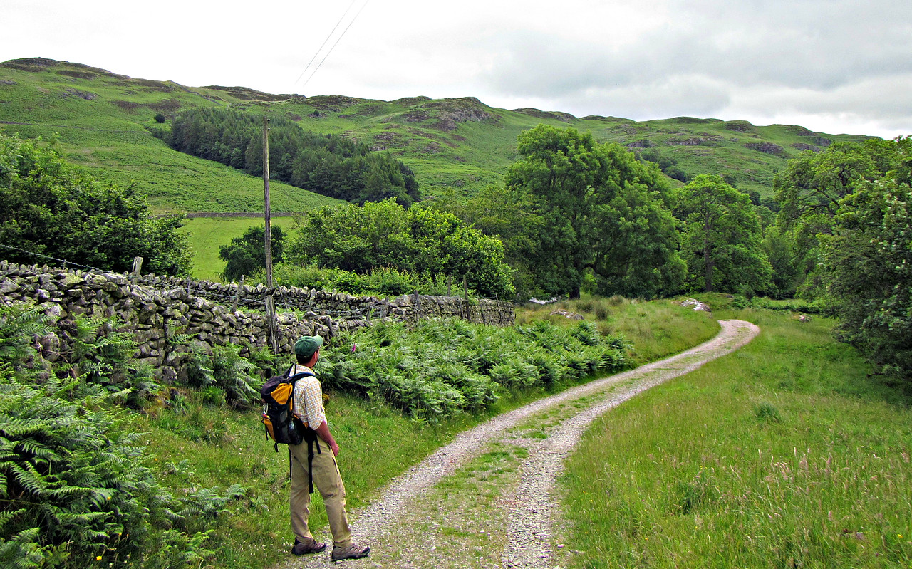 Starting our walk to Aira Force and Ullswater.