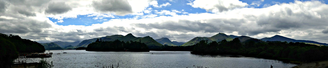 Derwent Water from the Keswick end, Sunday afternoon.
