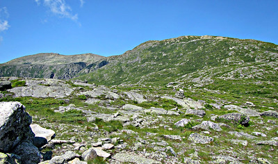 Plateau just above treeline - Looking west to Nelson Crag and Mt. Wash.