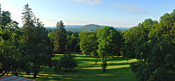 Looking toward Tanglewood from our balcony at Apple Tree Inn.