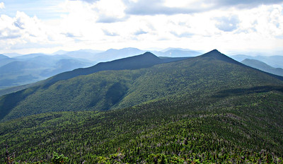 First view from Franconia Ridge Trail - south to Liberty and Flume.