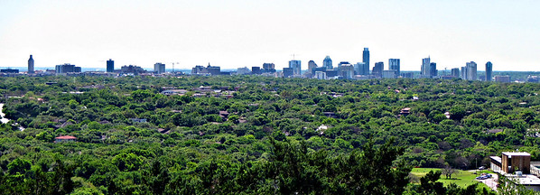Austin skyline, from the summit of Mt. Bonnell