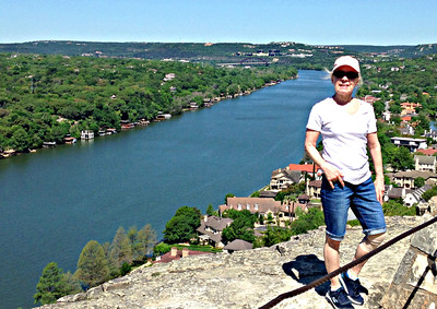 Looking north on the Colorado River, from Mt. Bonnell