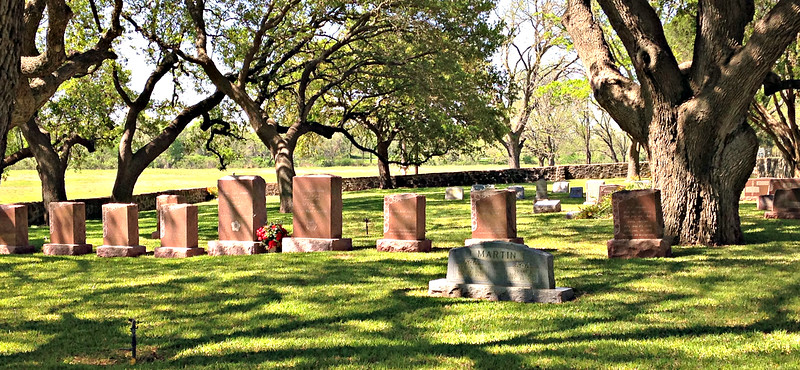 LBJ's grave, in Johnson Family Cemetery at his Ranch.