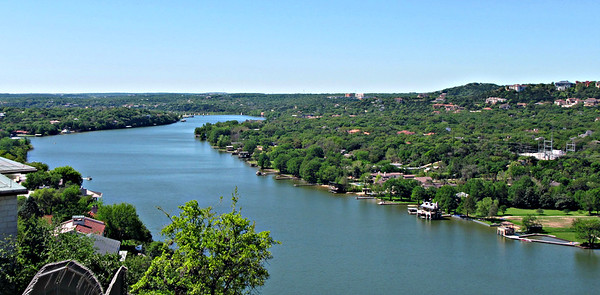 Looking south on the Colorado River, from Mt. Bonnell