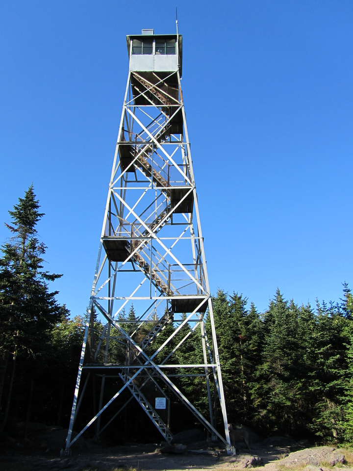 The fire tower up close. I tried to climb it but Gunter was not happy being left behind so he tried to climb too, so I decided that we would be content with the view from the ground.