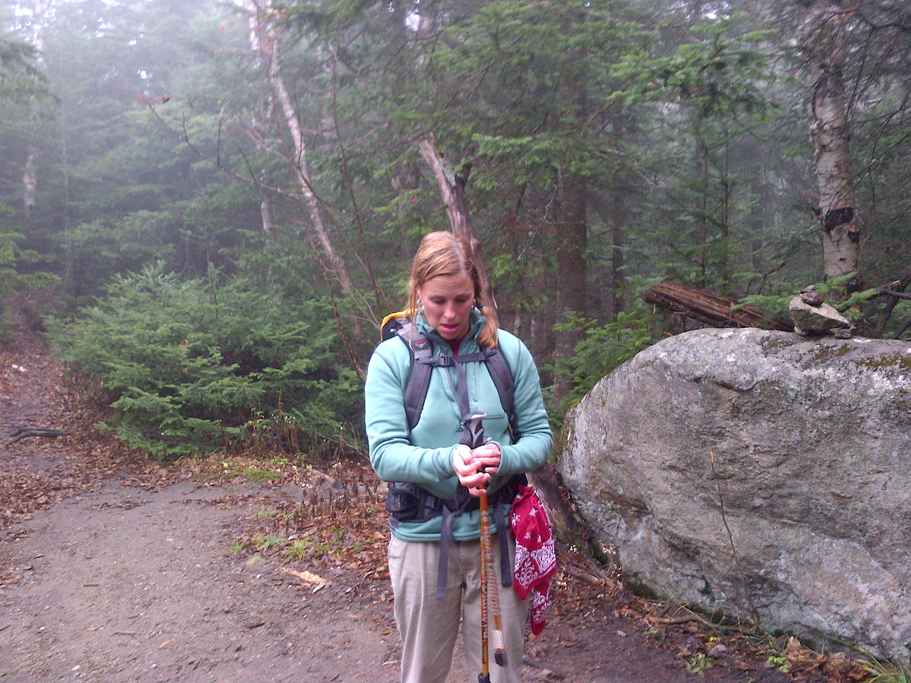 We did not encounter any rain but the fog was so thick that you actually got wet.