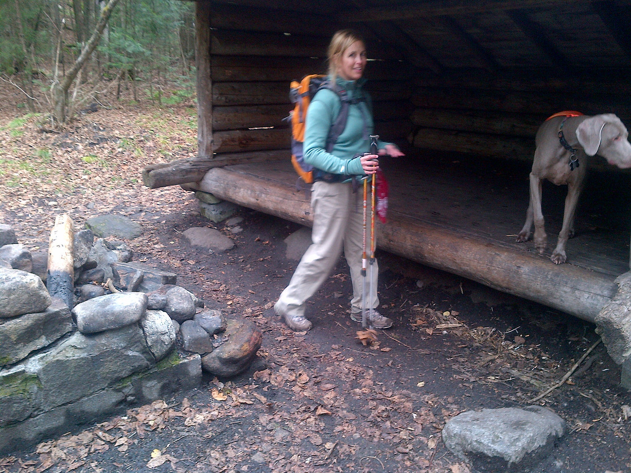 1 mile in and we reached the lean-to. This must not be in the high-peak region to have a fire pit. This was also on a nice trout stream so it would make for a good place to camp, however it is fairly close to the trailhead so it may get busy in the summer.