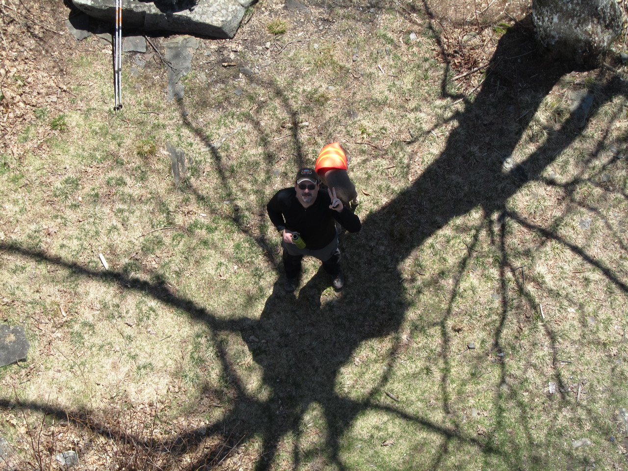 Rob Wallenda climbed the stairs to the fire tower. The cab was locked but he got some good pictures.
