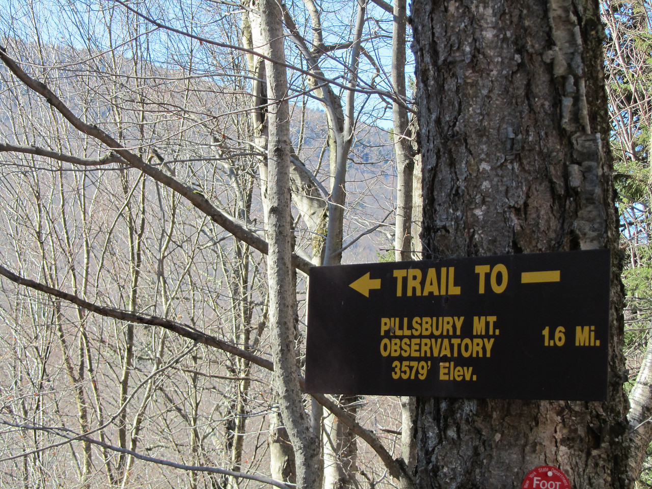 The trailhead. Warm. Dry. Sunny. Should be a snap.