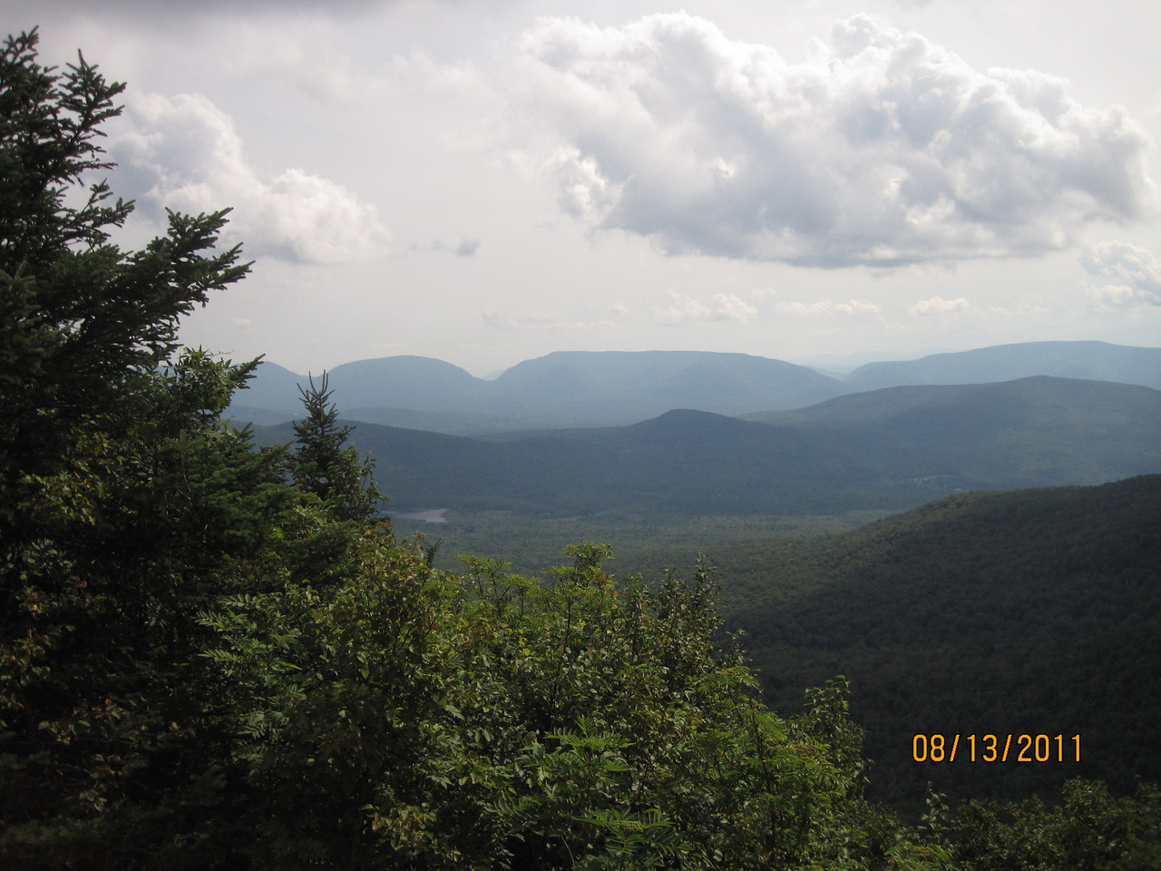 Off the ledge of Blackhead. For all you that think the Catskills are a cakewalk, try one of these hikes.....