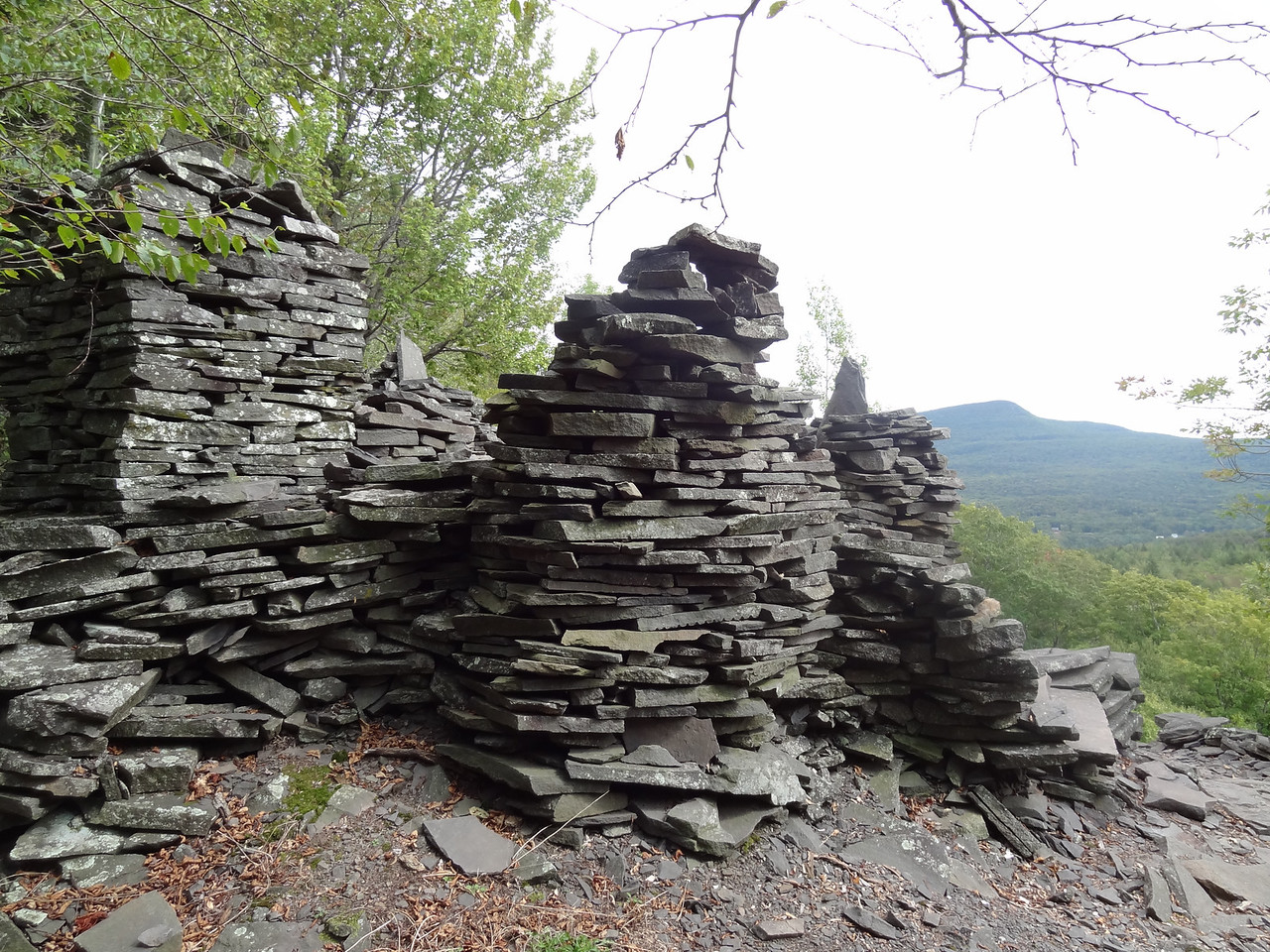 It must have took someone a long time to move all these rocks around. This is only a fraction of them.