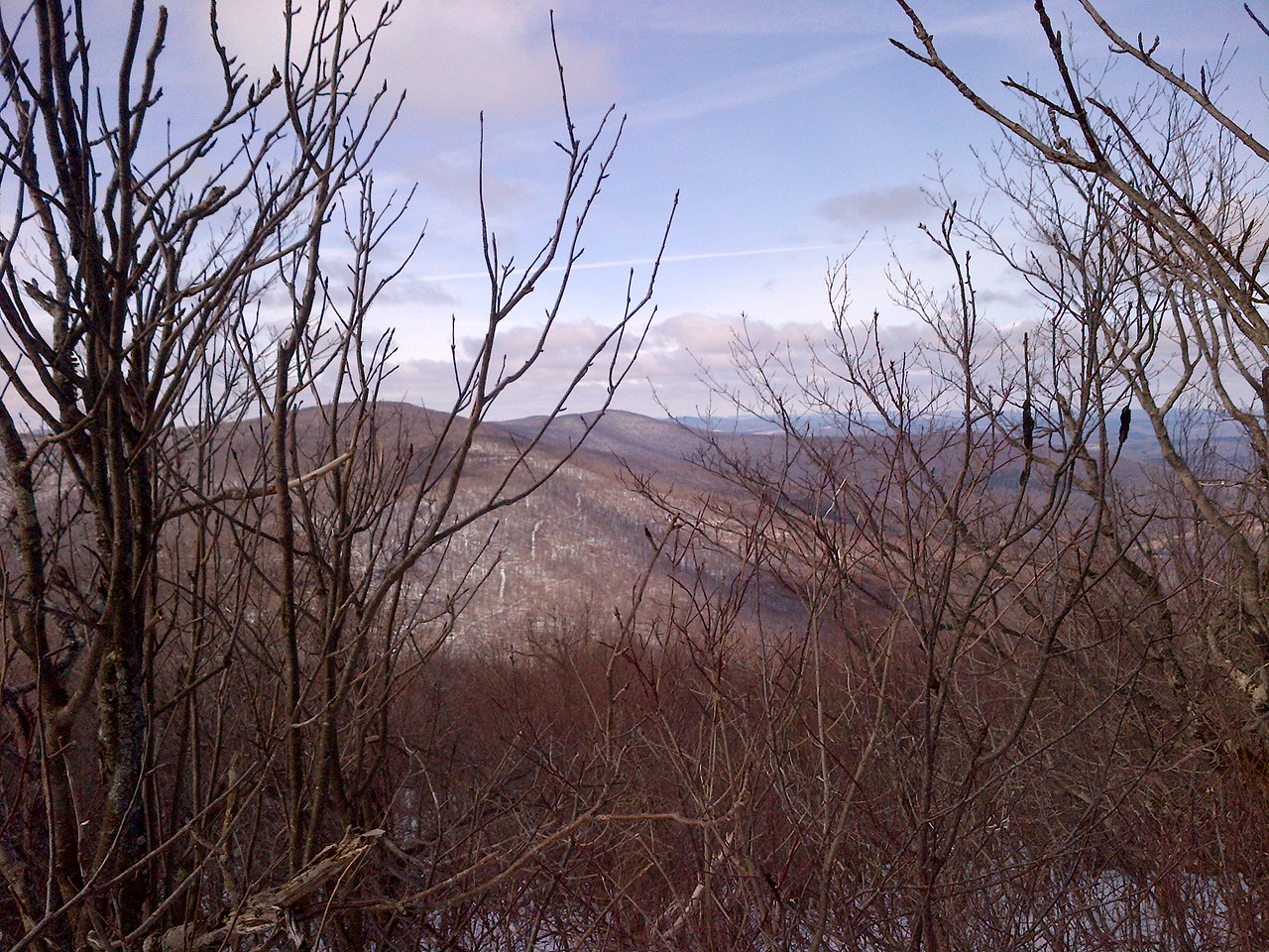 A view of Bearpen mountain from the summit of Vly.