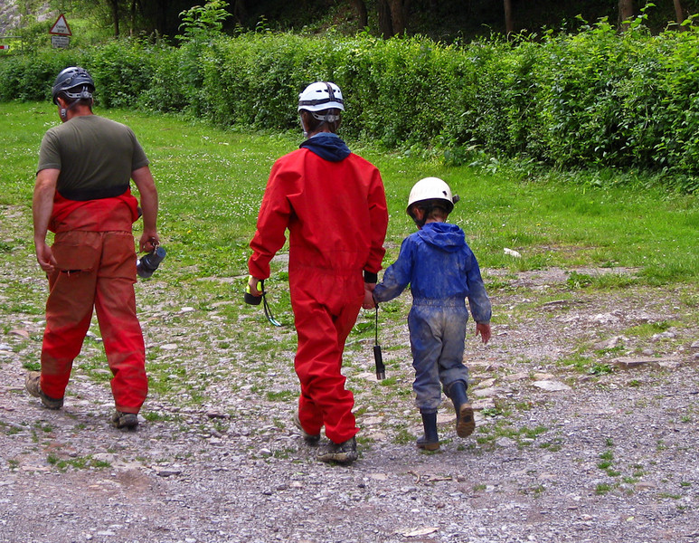cavers start young..