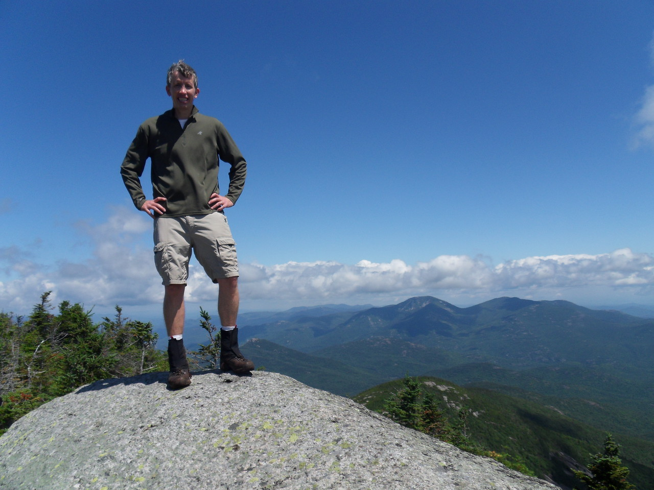 Ray at the summit of Dix. This was quite an amazing peak. Came to a high point with 360° views.