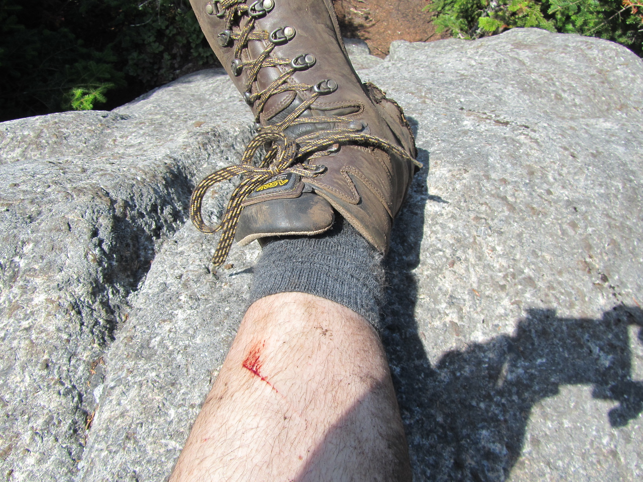 On the summit of Macomb. Bloodied and beaten down like a married man.