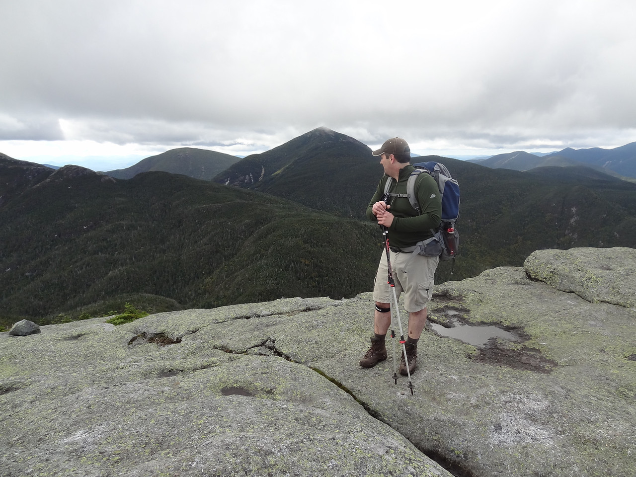 Looking back at Haystack ridge: little Haystack, false summit and Haystack (farthest left partially viewable summit).
