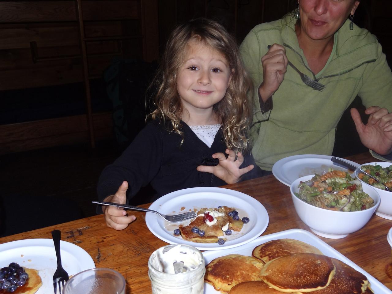 I think someone besides me likes the pancakes!