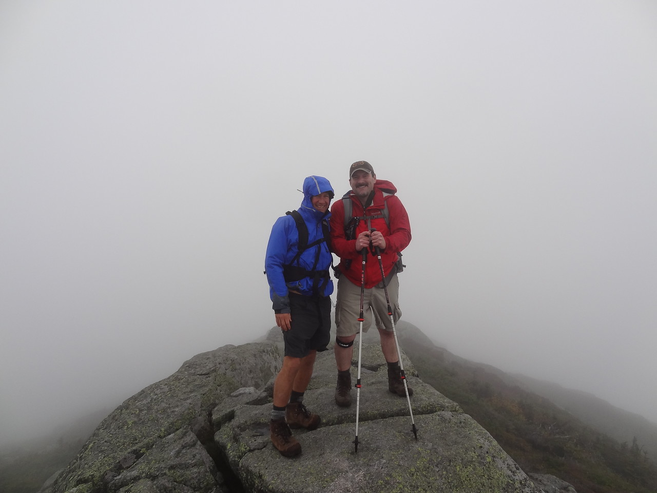 On the ridge summit of Haystack. Hace Frio.