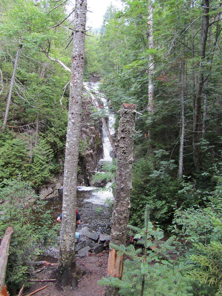 Heading up to the Algonquin/Iroquois col alongside this creek with dozens of waterfalls.