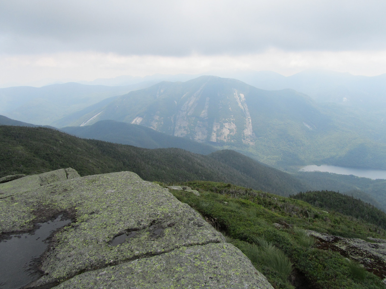 On the summit of Algonquin. Clouds moving in.