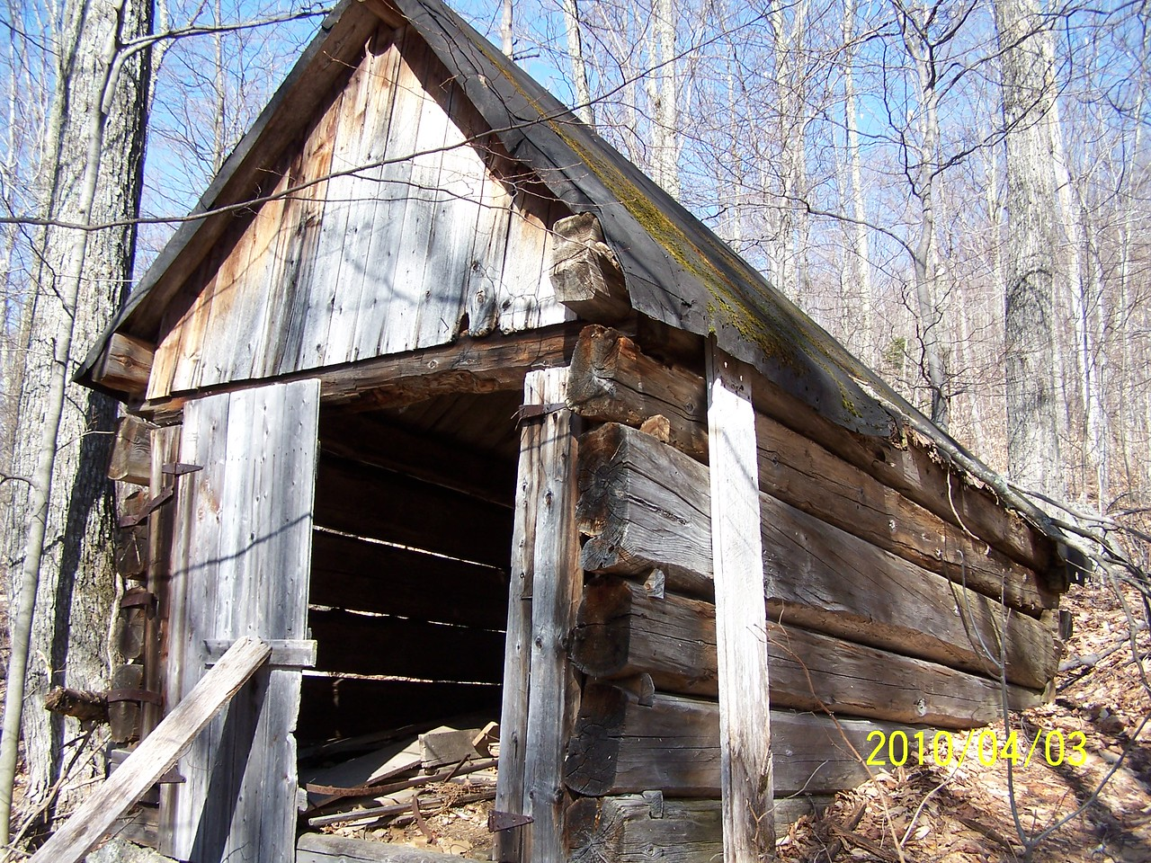 Old sugar shack I think. Too small to be a cabin.